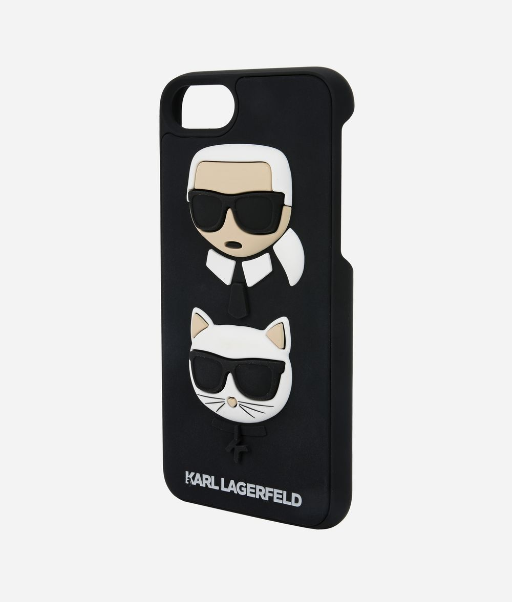 KARL LAGERFELD Karl and Choupette Ikonik new rubber iPad/iPhone Case Woman r