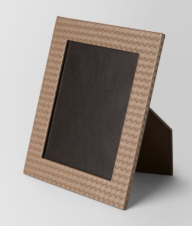 BOTTEGA VENETA ASH INTRECCIATO NAPPA LEATHER LARGE PHOTO FRAME Photo frame E fp