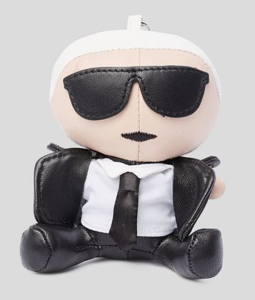 KARL LAGERFELD K/IKONIK LEATHER KEYCHAIN