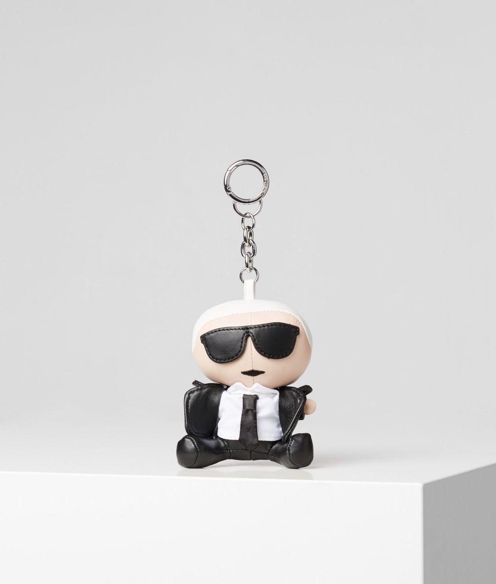KARL LAGERFELD K/Ikonik Leather Keychain Key Chain Woman f