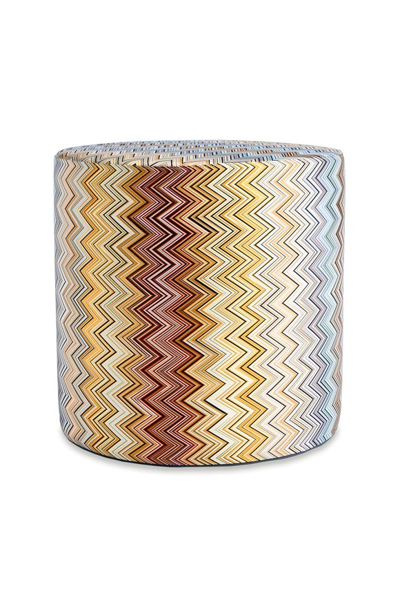 MISSONI HOME JARRIS CYLINDER POUF  E, Frontal view