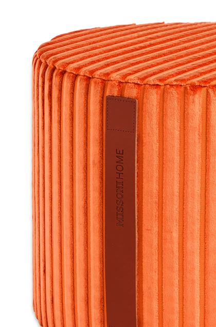 MISSONI HOME COOMBA CYLINDER POUF Orange E - Front