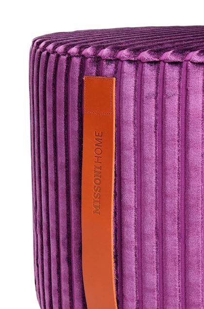 MISSONI HOME COOMBA CYLINDER POUF Purple E - Front