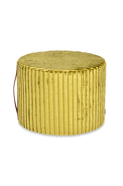 MISSONI HOME COOMBA CYLINDER POUF Acid green E - Back