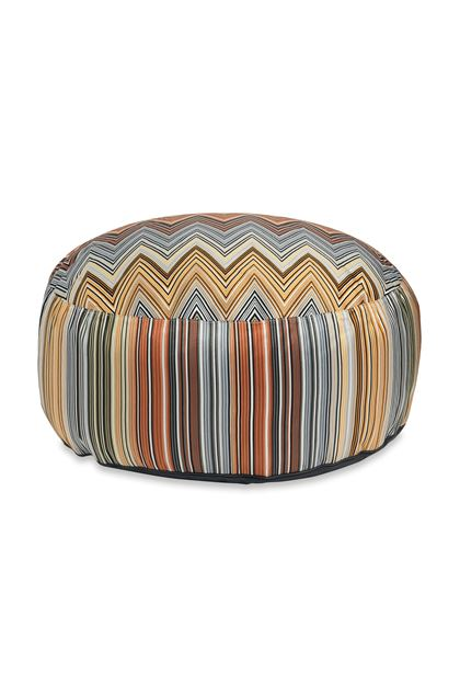 MISSONI HOME PALLINA POUF Sky blue E - Back