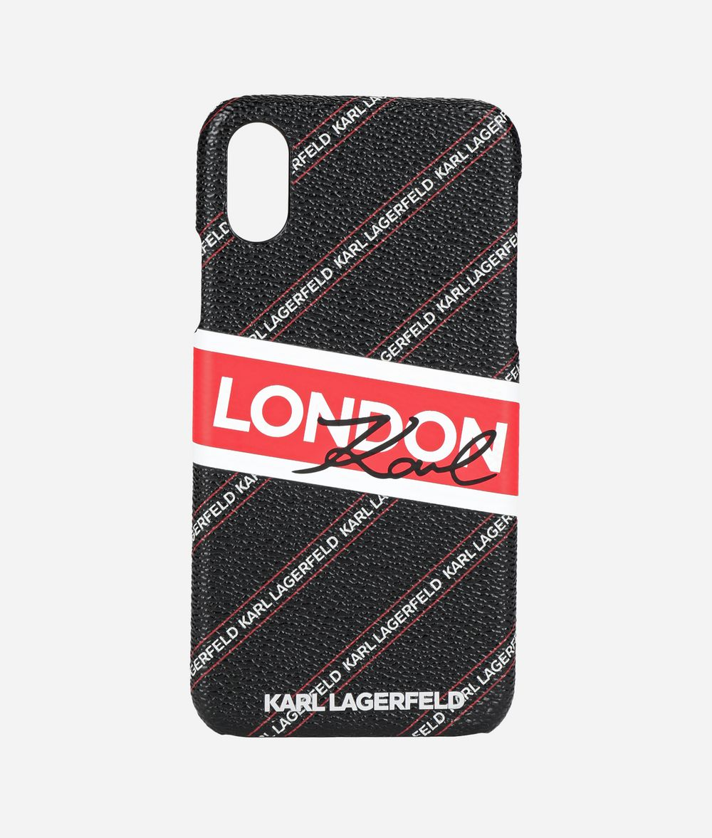 KARL LAGERFELD Coque pour iPhone X K/City Coques iPad/iPhone Femme f