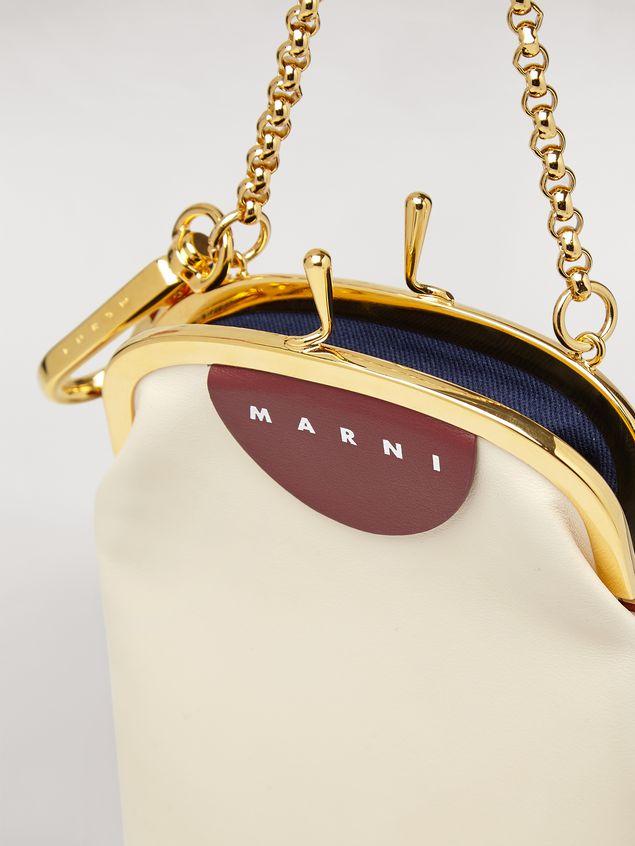 Marni Handycover aus Kalbsleder in Orange und Weiß Damen - 2