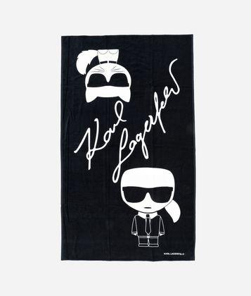 KARL LAGERFELD K/IKONIK BEACH TOWEL