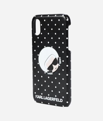 KARL LAGERFELD POLKA DOT IPHONE X COVER
