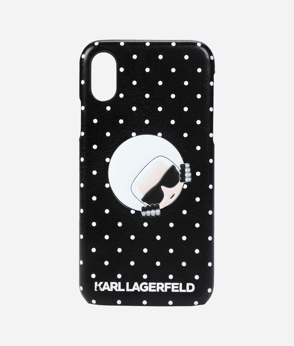 KARL LAGERFELD Polka Dot iPhone X Cover iPad/iPhone Case Woman f