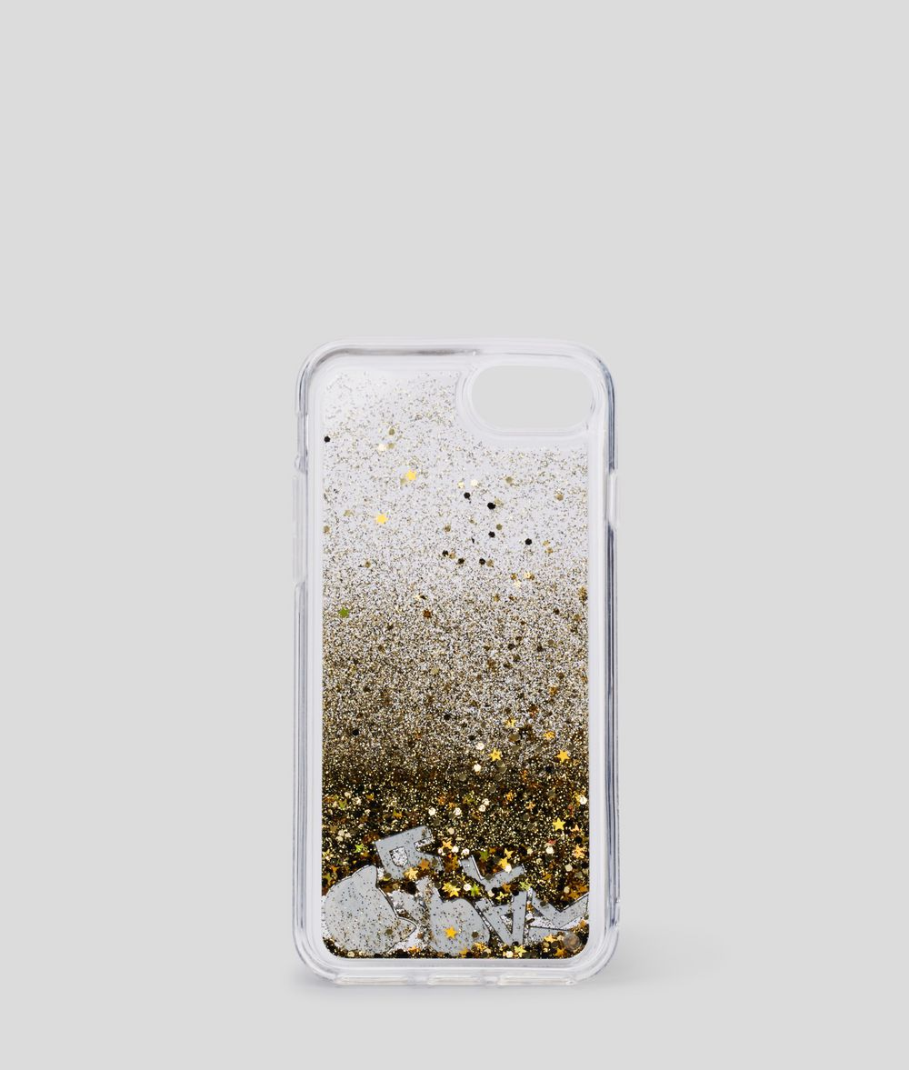 KARL LAGERFELD K/Ikonik Liquid Glitter iPhone 8 Cover iPad/iPhone Case Woman d