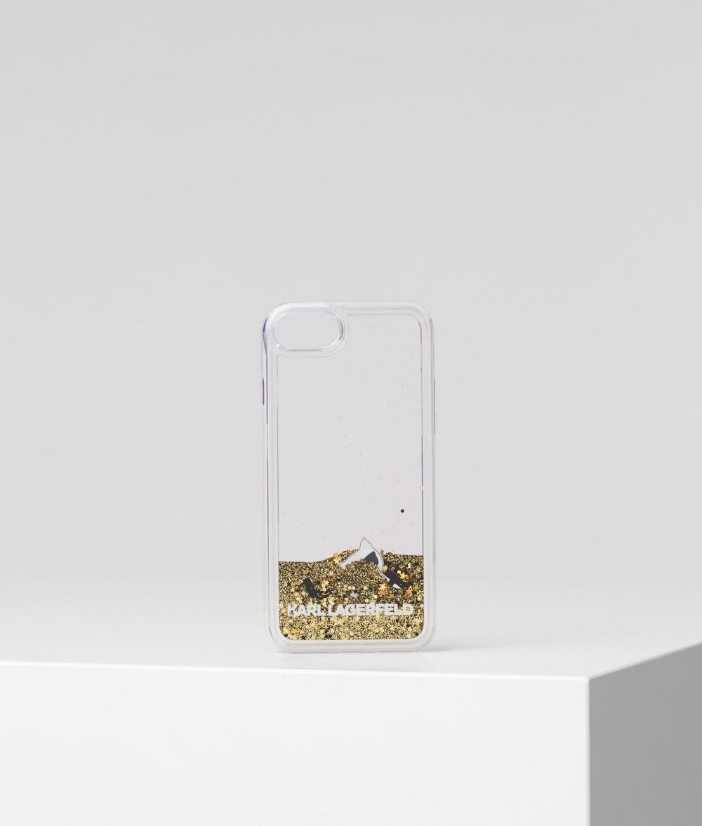 KARL LAGERFELD K/Ikonik Liquid Glitter iPhone 8 Cover iPad/iPhone Case Woman f