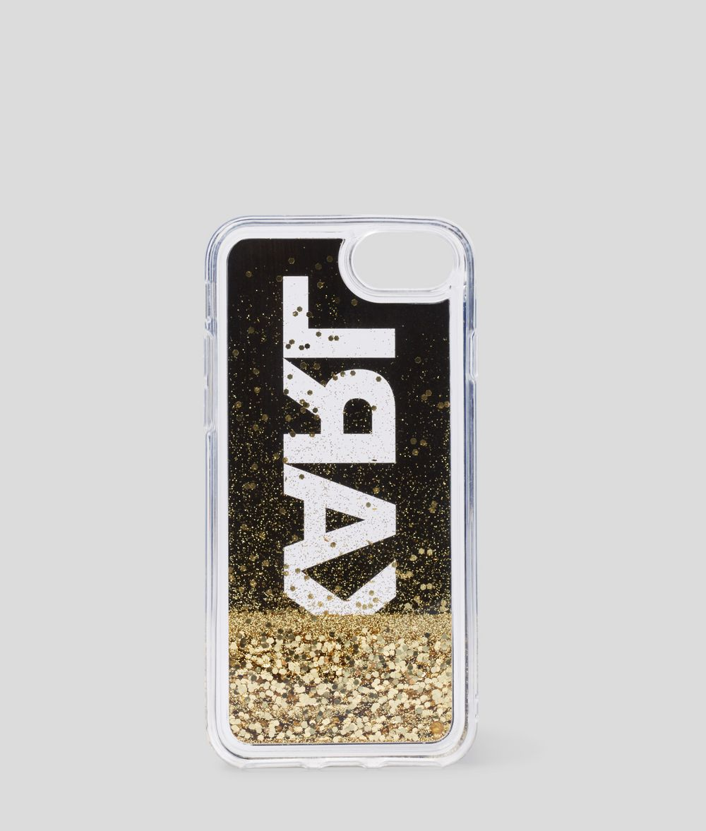 KARL LAGERFELD KARL Glitter iPhone 8 Cove iPad/iPhone Case Woman d