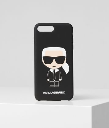 KARL LAGERFELD THIS PROTECTIVE IPHONE 8+ CASE FEATURES EYE-CATCHING K/IKONIK ARTWORK.