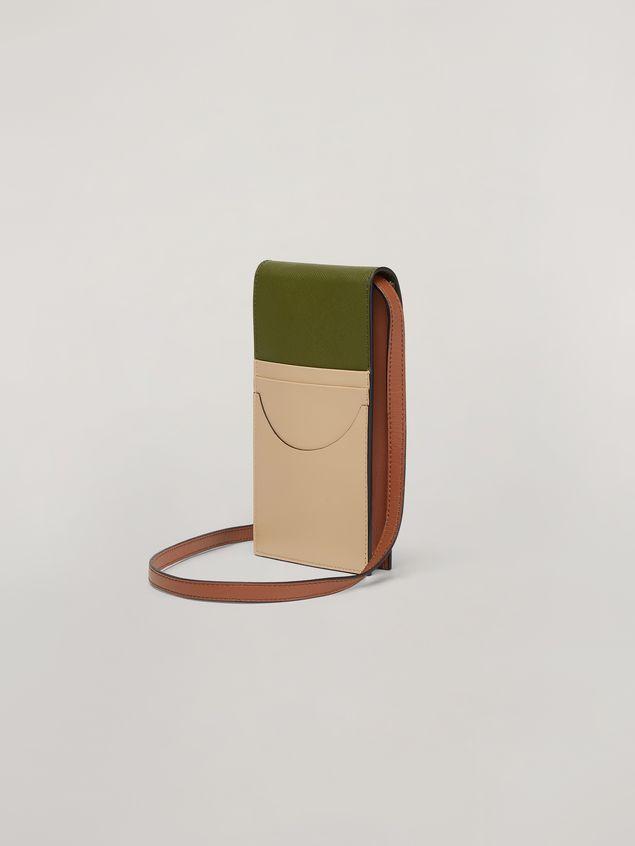 Marni Flap phone case in smooth calf Woman
