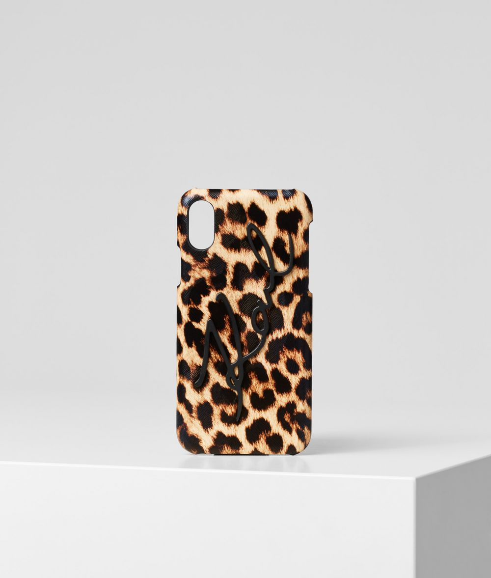 KARL LAGERFELD K/Signature Leopard iPhone X/XS Cover iPad/iPhone Case Woman f