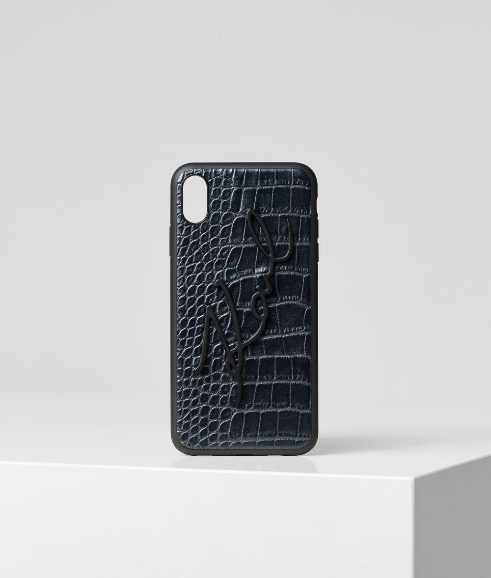 KARL LAGERFELD K/Signature Croco iPhone XS MAX Cover iPad/iPhone Case Woman f