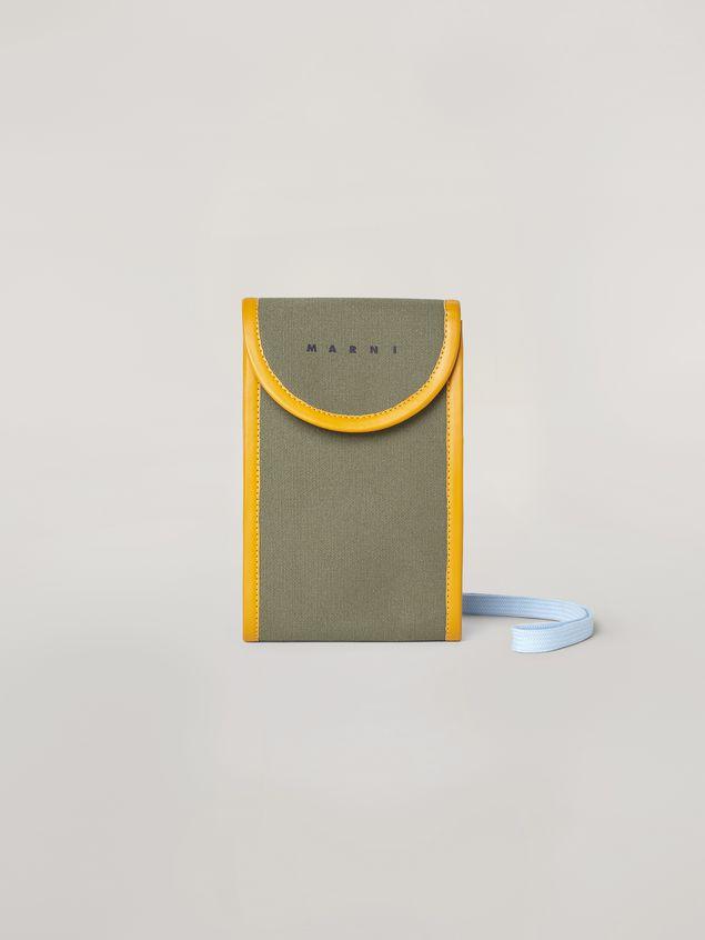 Marni Phone case in cotton canvas Man - 1