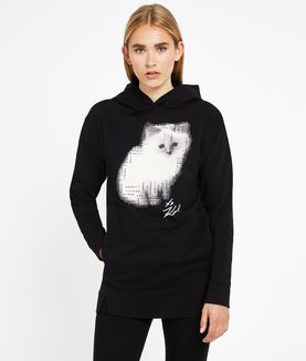 KARL LAGERFELD CHOUPETTE PHOTO SWEATSHIRT