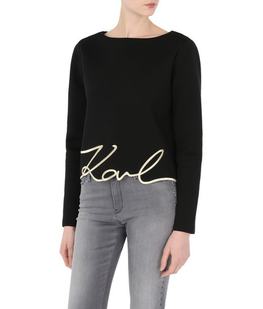 KARL LAGERFELD Top Gold avec signature 12_f