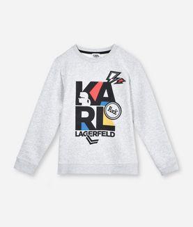 KARL LAGERFELD KARL COLORED LOGO SWEATSHIRT