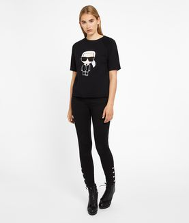 KARL LAGERFELD KARL IKONIK SHORT SLEEVED SWEATSHIRT