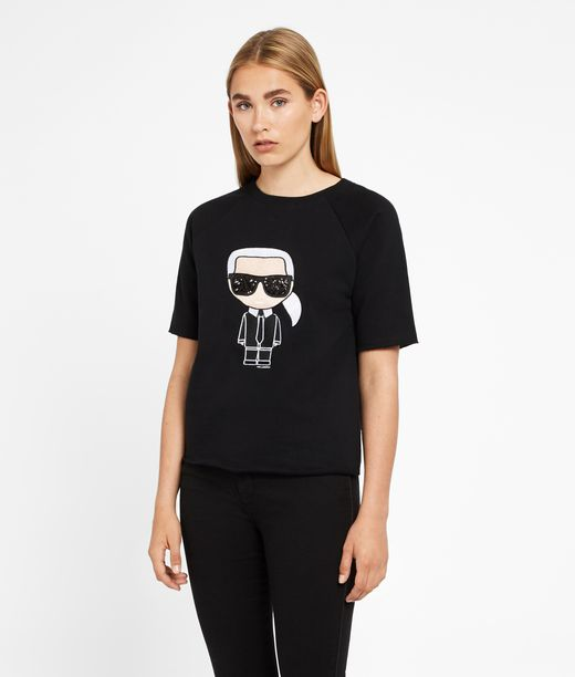 KARL LAGERFELD Karl Ikonik Short Sleeved Sweatshirt 12_f