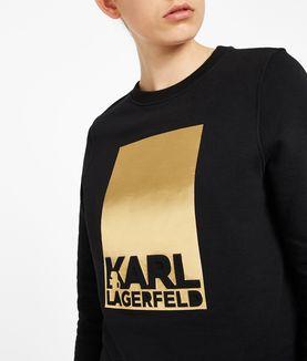 KARL LAGERFELD KARL LAGERFELD FOIL LOGO SWEAT