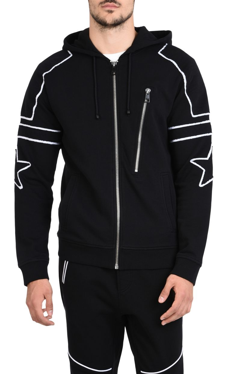 JUST CAVALLI Hooded sweatshirt with zip Sweatshirt U f