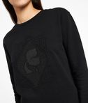KARL LAGERFELD Embroidered Pleated Back Sweat 8_e