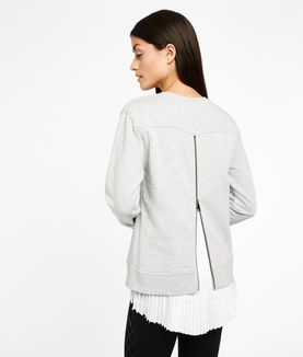 KARL LAGERFELD EMBROIDERED PLEATED BACK SWEAT