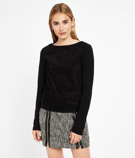 KARL LAGERFELD TEXTURED SPARKLE TOP