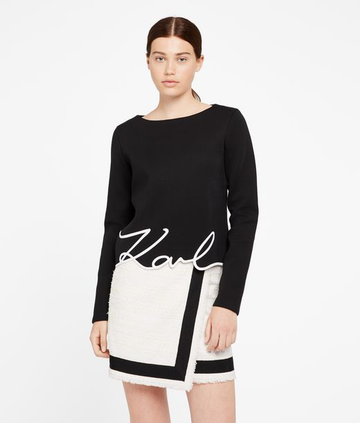 KARL LAGERFELD Karl Signature Neoprene Top 12_f