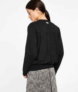 KARL LAGERFELD KARL PLEATED EFFECT SWEATSHIRT