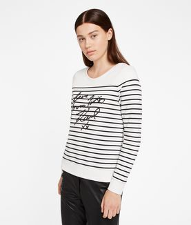 KARL LAGERFELD LOVE FROM PARIS SEQUIN SWEAT