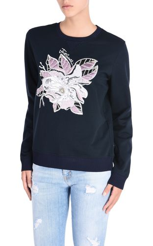 JUST CAVALLI Sweatshirt D Sweatshirt with Chain Reaction appliqué f