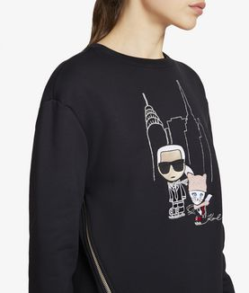 KARL LAGERFELD NYC ICE SKATING SWEATSHIRT