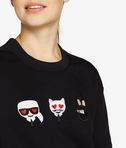 KARL LAGERFELD Sweat-shirt détail Karl et Choupette version émoji 8_e