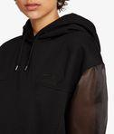 KARL LAGERFELD Organza Sleeves Hoodie 8_r