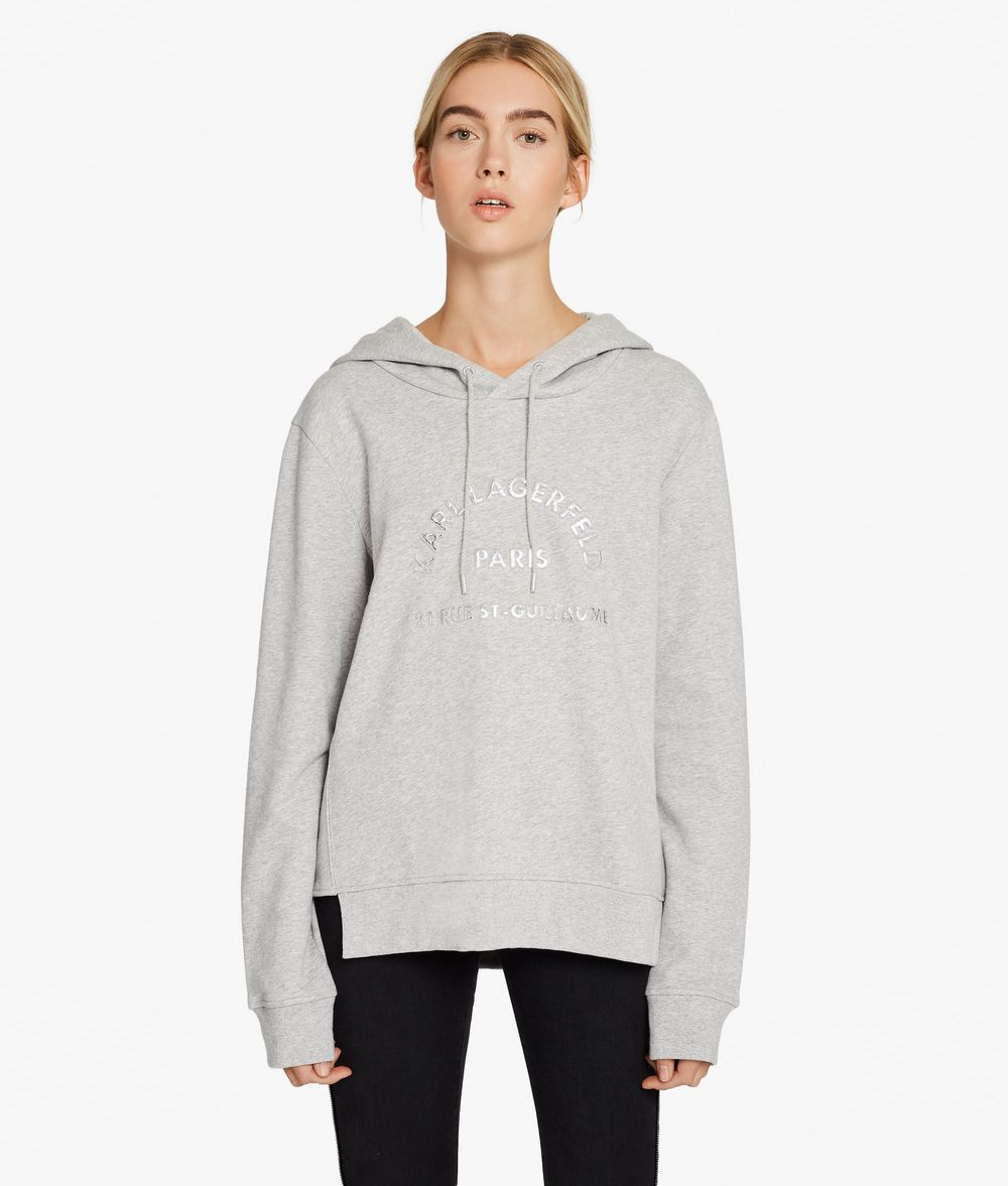 KARL LAGERFELD Kl Logo Hoodie Sweatshirt Woman f