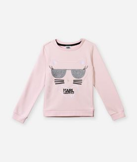 KARL LAGERFELD CHOUPETTE GRAPHIC SWEAT