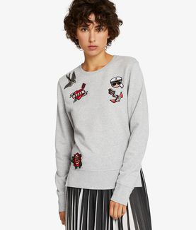KARL LAGERFELD CAPTAIN KARL PATCHES SWEATSHIRT