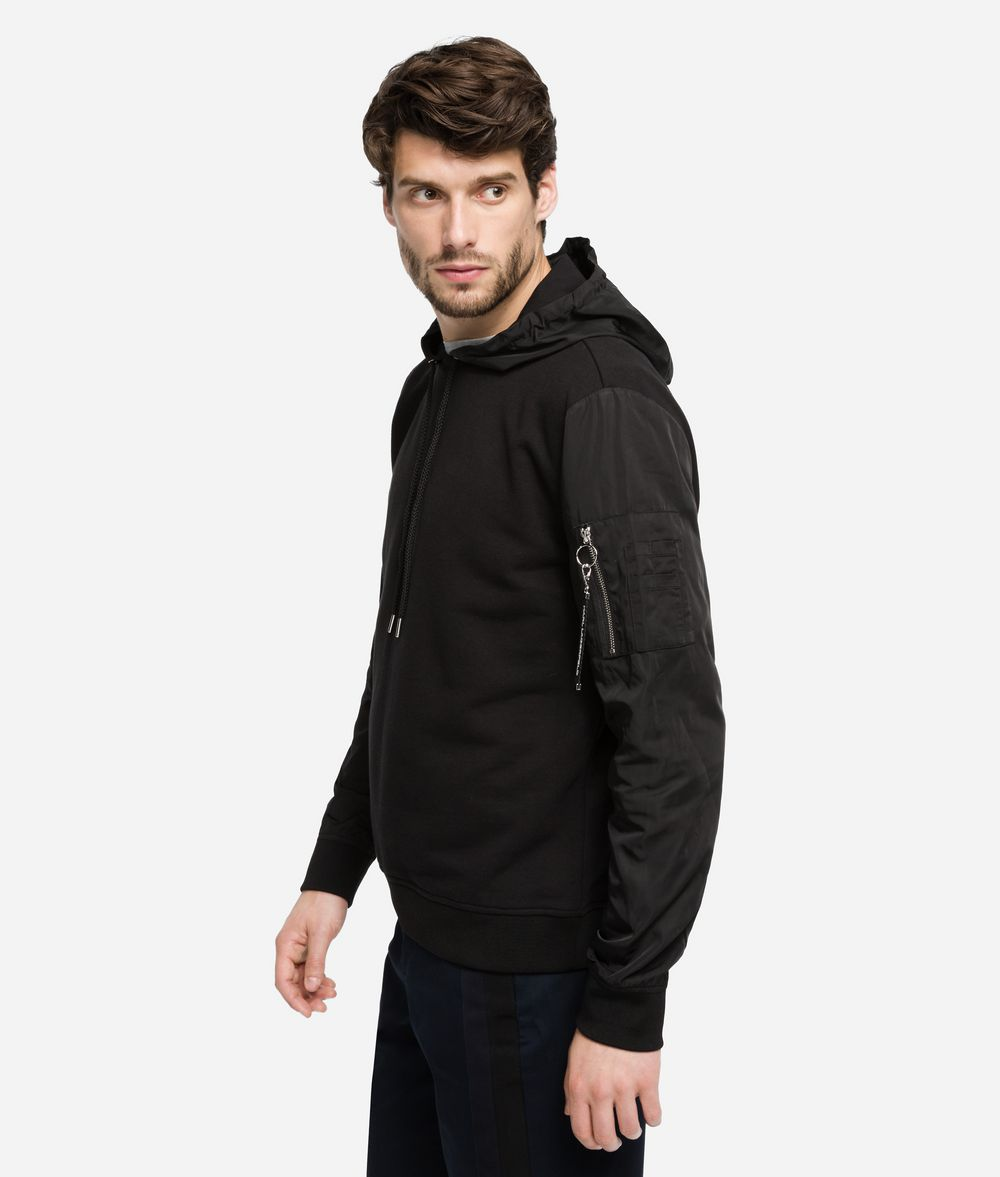 KARL LAGERFELD Hoodie sweatshirt fabric mix Sweatshirt Man d