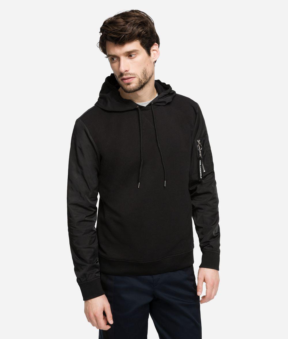 KARL LAGERFELD Hoodie sweatshirt fabric mix Sweatshirt Man f
