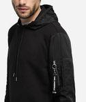 Hoodie sweatshirt fabric mix