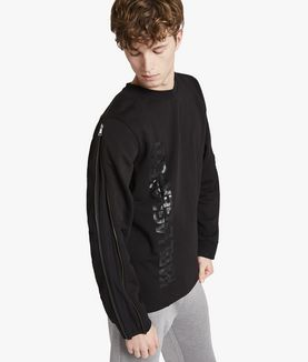 KARL LAGERFELD LOGO SWEATSHIRT WITH ZIPS