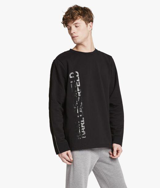 KARL LAGERFELD Logo sweatshirt with zips 12_f