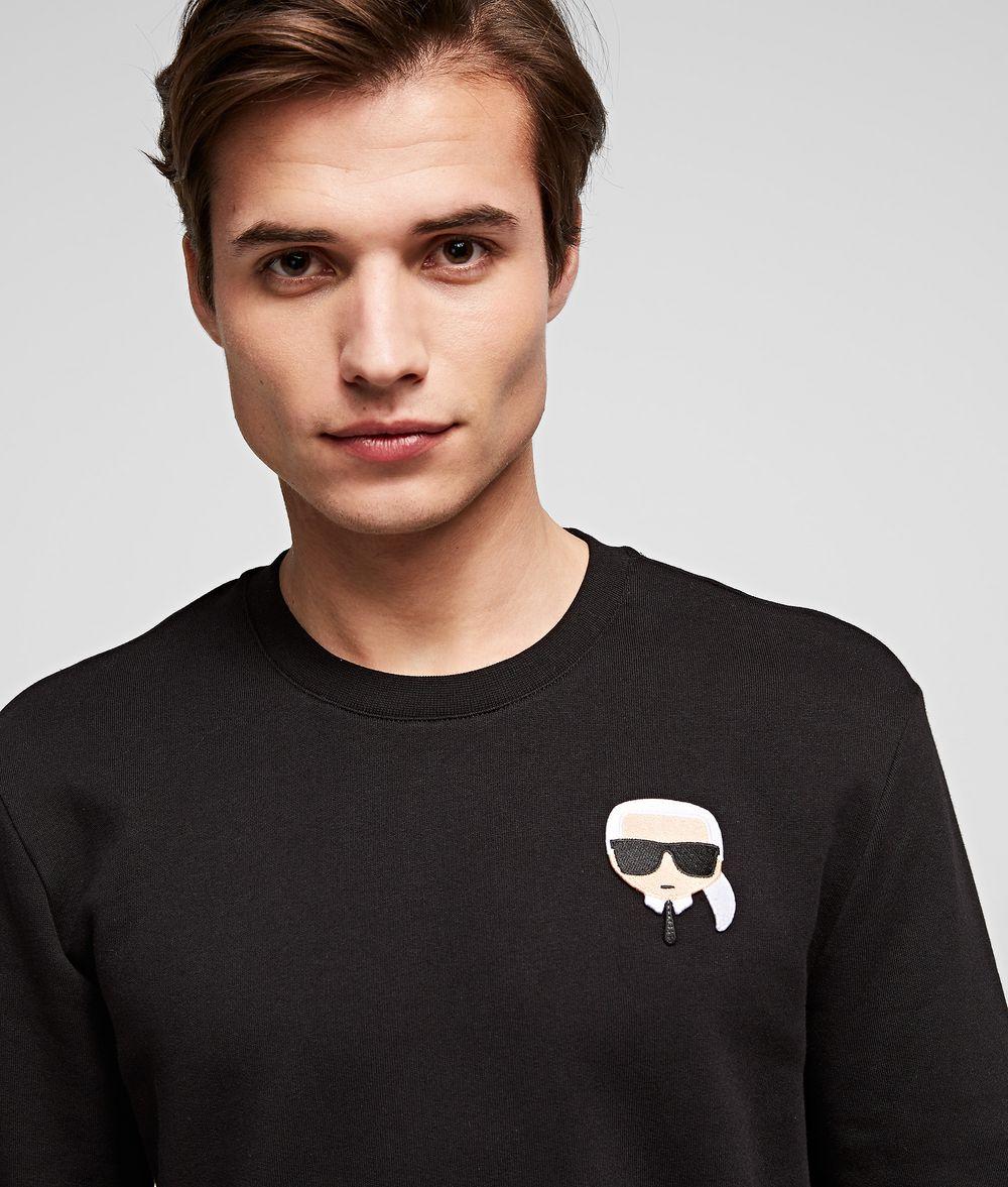 KARL LAGERFELD Ikonik Karl patch sweatshirt Sweatshirt Man d