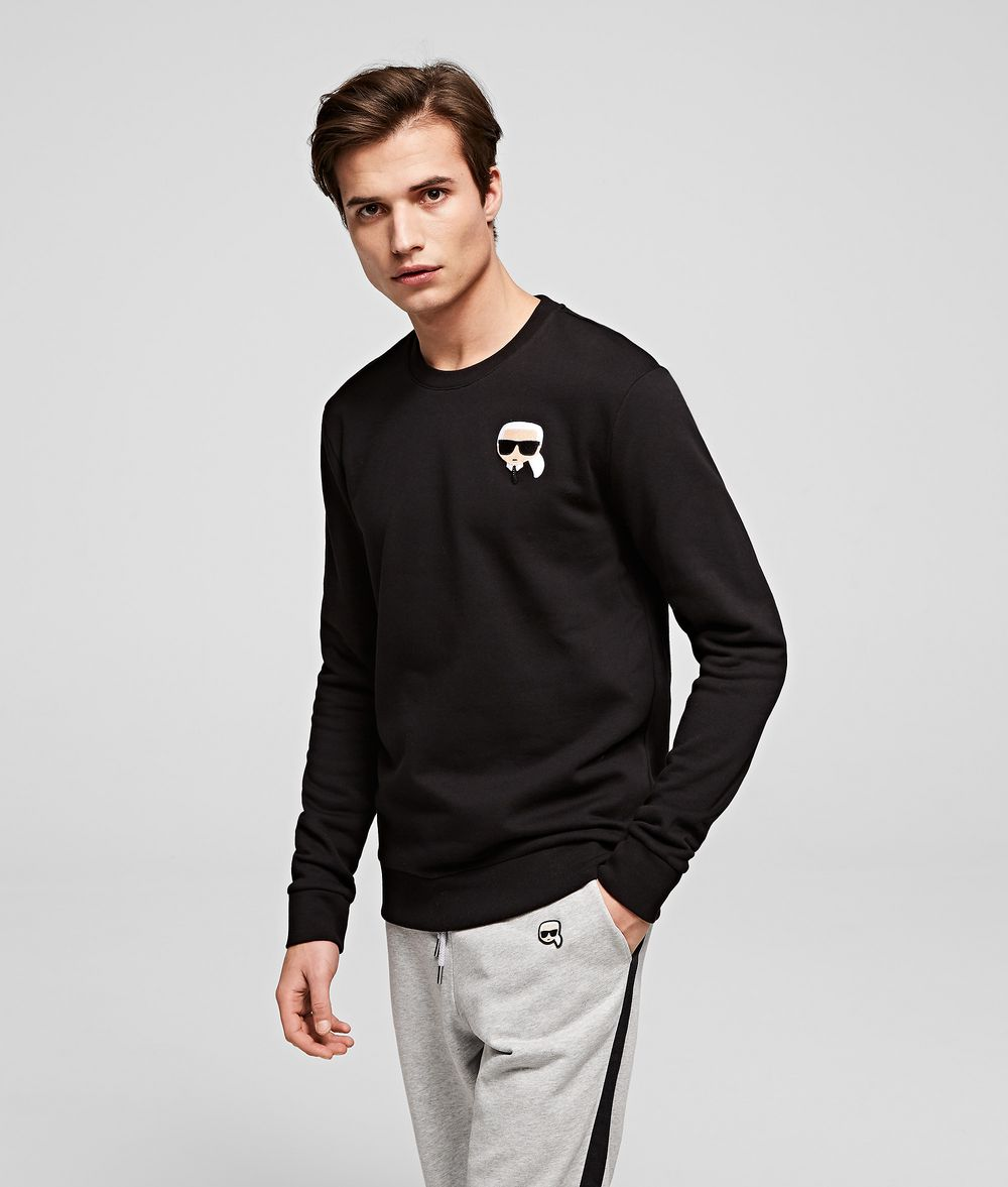 KARL LAGERFELD Ikonik Karl patch sweatshirt Sweatshirt Man f