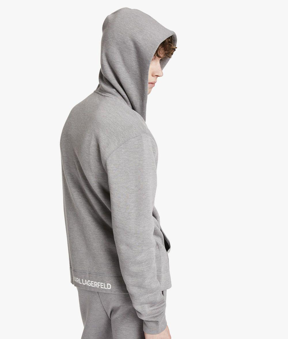 KARL LAGERFELD UNISEX - Karl's Essential Zip Hoodie Sweatshirt E d